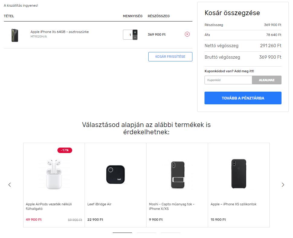 cross-selling példa: mobiltelefonhoz tok