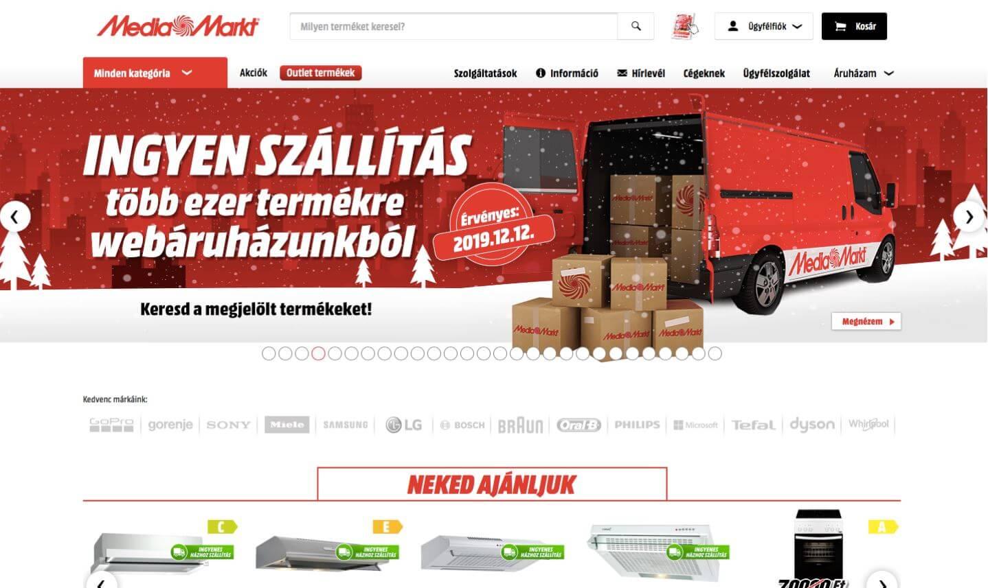 MediaMarkt ingyenes kiszállítás