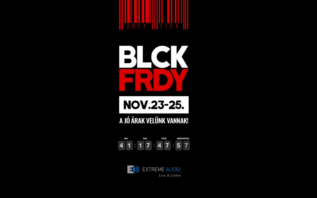 visszaszámláló - black friday kampányhoz